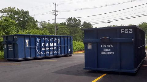 Two 30 Cubic Yard Dumpster Rental Wilmington, MA - Lowell Street