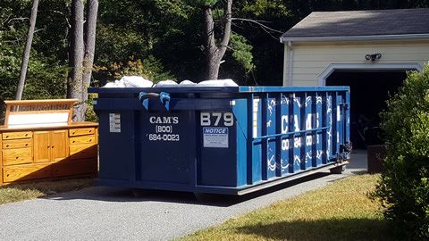 15 Cubic Yard Dumpster Rental Wilmington, MA - Woodland Road